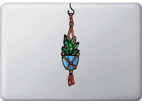 CLR:MB - Hanging Succulent Plant - D1- Stained Glass Style - Vinyl Macbook Laptop Trackpad Tablet Decal - Copyright 2017 © YYDC (VARIATIONS AVAILABLE)