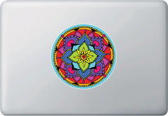 CLR:MB - Floral Mandala -  Vinyl Macbook Laptop Decal - © 2016 YYDC (5 inch dia.)(Color Choices)