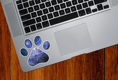 "CLR:TP - Cosmic Dog Pawprint - Galaxy Star Paw Print - Vinyl Decal Sticker for Trackpad Tablet (3""w x 3""h)"