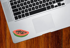 "CLR:TP - Papaya - Tropical Fruit - Vinyl Trackpad Tablet Decal - © 2015 YYDC (2.5""w x 1.2""h)"