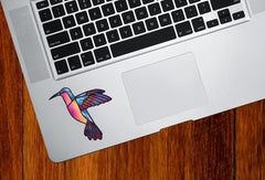 CLR:TP - Hummingbird Stained Glass Style Vinyl Trackpad Tablet Decal (Opaque) © 2016 YYDC (Size and Color Choices Available)