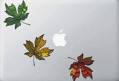 "CLR:TP - Patterned Leaf - Vinyl Trackpad Decal ©YYDC (3""w x 2.75""h)(Variations Available)"