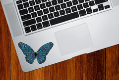 "CLR:TP - Patterned Butterfly - Vinyl Laptop Trackpad Decal (3.5""w x 2""h) (COLOR CHOICES)"
