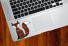"CLR:TP - Patterned Fox - Vinyl Trackpad Decal ©YYDC (3""w x 3""h)"