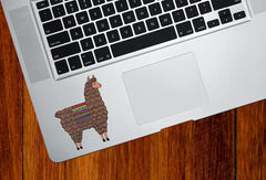 "CLR:TP - Patterned Llama - Cute Llama - Vinyl Trackpad Tablet Decal ©YYDC (SM 2.4""w x 3""h)(COLOR CHOICE)"