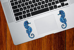 CLR:TP - Seahorse - Stained Glass Style - Vinyl Trackpad Tablet Decal  - ©2016 YYDC (VARIATIONS AVAILABLE)