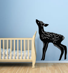 CLR:WALL ~ Deer Fawn Eating - Wall | Window | Door - (SIZE CHOICES AVAILABLE) (Black & White)