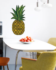 "CLR:WALL - Patterned Pineapple - Tropical - Vinyl Wall Decal - © 2015 YYDC (XL 10""w x 20""h) (Color Choices)"