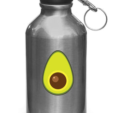 "CLR:WB - Avocado Half - Vinyl Decal for Water Bottle | Vehicles | Helmets © YYDC (2""w x 2.75""h)"