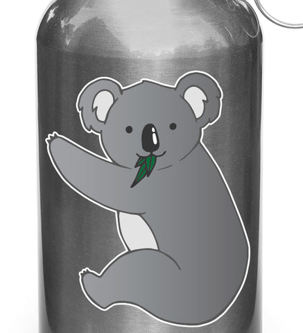 CLR:WB - Koala - Cute Koala Hug - Vinyl Water Bottle Decal - © 2017 YYDCo. (Size Choices)