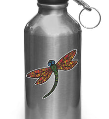 "CLR:WB - Patterned Dragonfly - Vinyl Waterbottle Decal ©YYDC (3""w x 2.75""h) (Color Choices)"