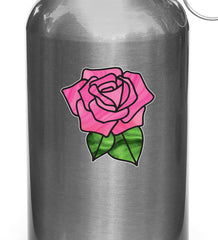 "CLR:WB - Rose Stained Glass -D1- Small Vinyl Decal for Water Bottle | Vacuum Flask | Appliance  - © YYDC (2.75""w x 2.75""h) (Color Choices)"