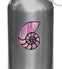 "CLR:WB - Shell - Nautilus Seashell - Stained Glass Style - Vinyl Water Bottle Decal - ©2016 YYDC (2.5""w x 2""h)"