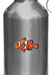 CLR:WB - Tropical Fish - Clownfish - Stained Glass Style Opaque Vinyl Waterbottle Decal ©2018 YYDC (SIZE CHOICES)