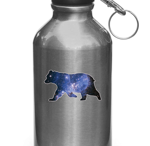 "CLR:WB - Cosmic Bear - Design 2 - Vinyl Decal for Water Bottles | Vacuum Flasks| Cups © YYDC (3.5""w x 2""h)"