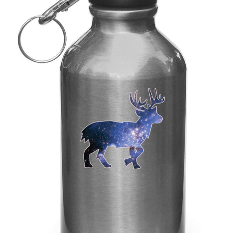 "CLR:WB - Cosmic Deer - Vinyl Decal for Water Bottles | Vacuum Flasks| Cups © YYDC (3.5""w x 3.5""h)"