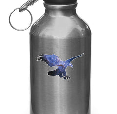 "CLR:WB - Cosmic Eagle - Vinyl Decal for Water Bottles | Vacuum Flasks| Cups © YYDC (3.5""w x 2""h)"