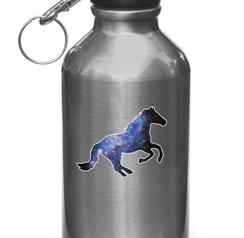 "CLR:WB - Cosmic Horse - Vinyl Decal for Water Bottles | Vacuum Flasks| Cups © YYDC (3.5""w x 2""h)"