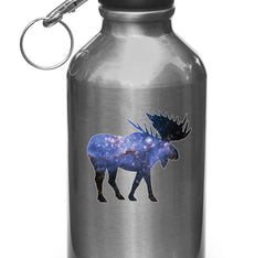 "CLR:WB - Cosmic Moose - Vinyl Decal for Water Bottles | Vacuum Flasks| Cups © YYDC (3.25""w x 3""h)"