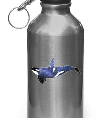 "CLR:WB - Cosmic Orca - Killer Whale - Spirit Animal - Vinyl Decal for Water Bottle | Flask | Cup ©YYDC (3""w x 1.5""h)"