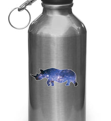 "CLR:WB - Cosmic Rhino - Galaxy Star Rhinoceros - Vinyl Decal for Water Bottles or Cars - Copyright © YYDC (SM 3.5""w x 1.5""h)"