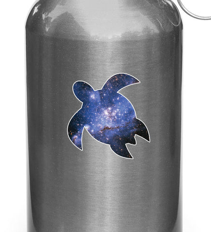 "CLR:WB - Cosmic Sea Turtle - Vinyl Decal for Water Bottles or Cars - Copyright © YYDC (2.75"")"