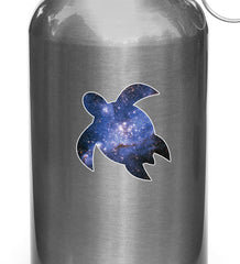 "CLR:GAS - Cosmic Sea Turtle - Vinyl Decal for Water Bottles or Cars - Copyright © YYDC (2.75"")"