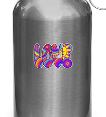 "CLR:WB - LOVE Pattern Text - Sun Moon -D2-  Vinyl Decal for Reusable Water Bottle - © YYDC (4""w x 2.5""h)"