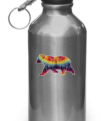 "CLR:WB - Rainbow Tie Dye Bears - Design 2 - Vinyl Decal for Water Bottles | Vacuum Flasks| Cups © YYDC (3.5""w x 2""h)"