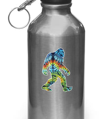 "CLR:WB - Rainbow Tie Dye Sasquatch - Bigfoot - Vinyl Decal for Water Bottles | Vacuum Flasks| Cups © YYDC (2""w x 2.75""h)"