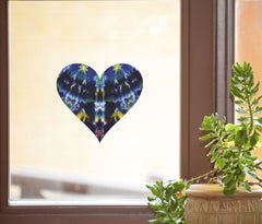 CLR:WND - Tie Dye Heart - See-Through Vinyl Window Decal - ©2016 Yadda-Yadda Design Co. (VARIATIONS)