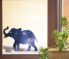 "CLR:WND - Cosmic Elephant - Galaxy Guide Spirit Animal - See-Through Vinyl Window Decal - Copyright © YYDC (MD 5.75""w x 4.25""h)"