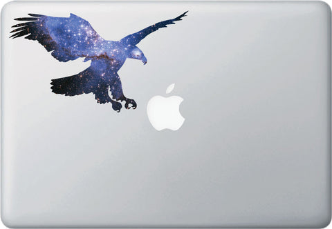 CLR:MB - Cosmic Eagle - Galaxy - Spirit Animal - Vinyl Decal for Laptop | Macbook | Indoor Use © YYDC. (Size Variations Available)