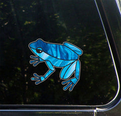 "CLR:CAR - Dart Frog Stained Glass Style - Vinyl Decal for Car Truck Boat © YYDC (4""w x 3.75""h)(Color Choices)"