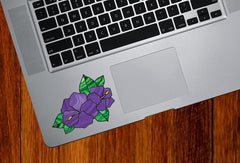"CLR:TP - Hibiscus Stained Glass Style - Vinyl Decal for Trackpad | Tablet | Macbook | iPad © YYDC  (2""w x 2""h) (Color Choices)"