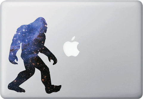 "CLR:MB Cosmic Sasquatch - Star Squatch - Galaxy - Vinyl Decal for Laptops | Macbooks |Indoor Use - © YYDC (5""w x 7""h)"