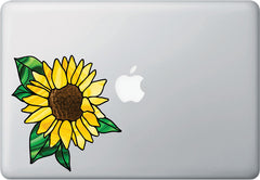CLR:MB - Sunflower - D2 - Stained Glass Style Vinyl Decal for Macbook | Laptop | Tablet | Trackpad  ©YYDC (Size Variations Available)