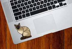 CLR:TP - SIAMESE Charming Cat Stained Glass Style - Vinyl Decal for Trackpad | Laptops | Trackpad | Tablet © YYDC (Size and Color Choices)