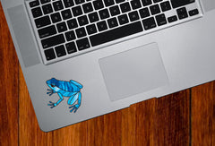 "CLR:TP - Dart Frog Stained Glass Style - Vinyl Decal for Trackpad © YYDC  (2""w x 2""h) (Color Choices)"