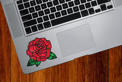 "CLR:TP - Rose Stained Glass -D2- Vinyl Decal for Trackpad | Tablet | Water Bottle  - © YYDC (3""w x 2.75""h) (Color Choices"