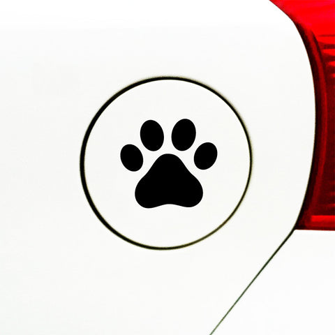 "CAR - Dog Pawprint - Paw - GAS CAP - Vinyl Decal Sticker (3""w x 3""h) (Color Choices)"