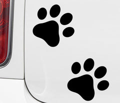 PATT:GLS - Large Dog Paw Prints - Glossy Vinyl Decals - (Color Choices) (Pack of 16 or 48)