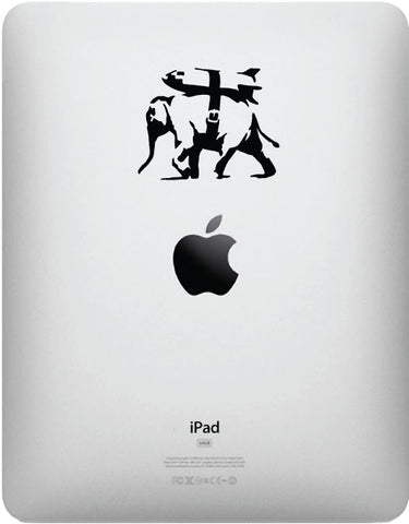IPAD - Elephant Bomber - iPad - Vinyl Decal Sticker (BLACK)