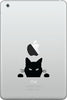 "IPAD-M - Cat ""Soon"" - Kitty Watching - iPad MINI - Vinyl Decal Sticker (BLACK or WHITE)"