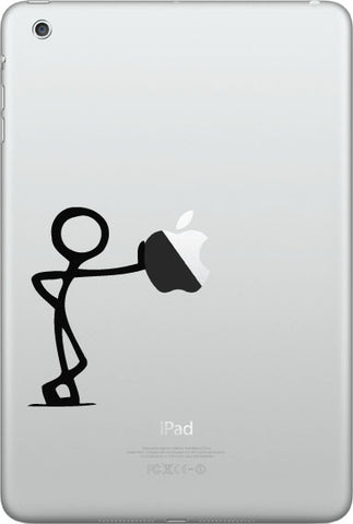 "IPAD-M - LEAN - iPad MINI or Small Tablet Vinyl Decal © YYDC (1.75""w x 3""h) (Color Variations)"