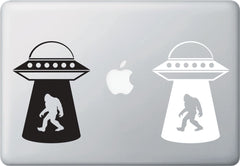 "MB - Sasquatch UFO Abduction - Bigfoot - Aliens - Vinyl Laptop Decal Macbook Sticker ©YYDCo. (4""w x 5.5""h) (COLOR CHOICES)"