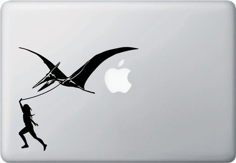 "MB - Pterodactyl Walker - Laptop Vinyl Decal - ©YYDC (6.5""w x 5.75""h) (BLACK)"