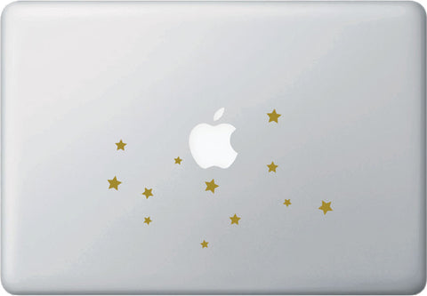 "MB - Astrology - VIRGO Zodiac Constellation - Earth Sign - Laptop Vinyl Decal ©YYDC (7""w x 4.5""h) (Matte Gold)"