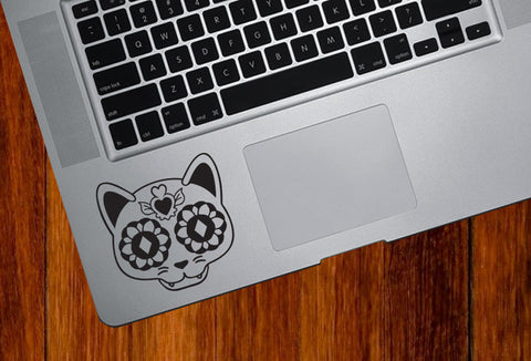 TP - Sugar Skull Cat - Day of the Dead - Día de los Muertos - Trackpad | Laptop Vinyl Decal - © 2016 YYDC (Color Choices)