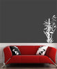 "WALL - Bamboo - Zen - Design 1 - Wall Vinyl Decal (15""w x 30""h) (Color Choices)"